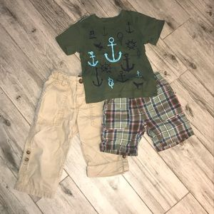 Boys set of 3. 2t Gymboree outfit shorts anchor